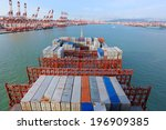 port container terminal | Shutterstock . vector #196909385