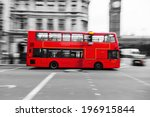 traditional red double decker... | Shutterstock . vector #196915844