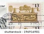 usa   circa 1977  a stamp...   Shutterstock . vector #196916981