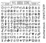 vector doodle icons. universal... | Shutterstock .eps vector #196917659
