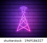 Neon 5g Network Icon  Mobile...