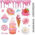 sweet food. cake  cupcake ...   Shutterstock .eps vector #1969190254