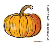pumpkin  vector illustration | Shutterstock .eps vector #196923041