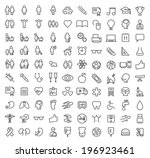 set of 100 minimal modern... | Shutterstock .eps vector #196923461
