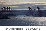 port of seattle washington... | Shutterstock . vector #19692349