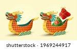 3d cartoon dragon boat toys...   Shutterstock .eps vector #1969244917