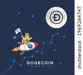 dogecoin going to the moon ... | Shutterstock .eps vector #1969264747