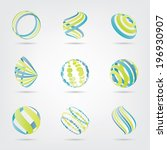 sphere design elements | Shutterstock .eps vector #196930907