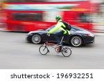 Постер, плакат: cyclist Porsche and a
