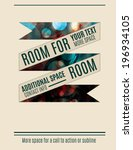 retro banner with abstract... | Shutterstock .eps vector #196934105