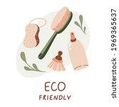 eco friendly. set of bathroom... | Shutterstock .eps vector #1969365637