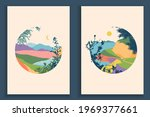 abstract colourful landscape... | Shutterstock .eps vector #1969377661