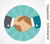 vector icon handshake | Shutterstock .eps vector #196939901