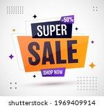super sale banner template... | Shutterstock .eps vector #1969409914