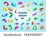 cartoon arrow icons in... | Shutterstock .eps vector #1969430437