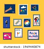 set of trendy lgbtq stamps. day ...   Shutterstock .eps vector #1969440874