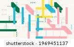 geometric abstract vector... | Shutterstock .eps vector #1969451137