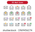 modern mail icons. 20 message...   Shutterstock .eps vector #1969456174