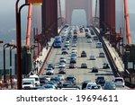 Zoom Of Heavy Traffic On Golden ...