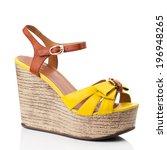 Yellow  Women Shoe Isolated On...