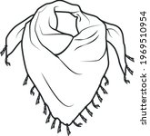 scarf fashion flat sketch...   Shutterstock .eps vector #1969510954