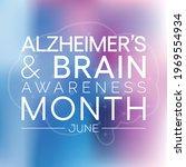 alzheimer's and brain awareness ... | Shutterstock .eps vector #1969554934