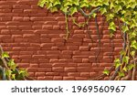 wall  branches liana  ivy.... | Shutterstock .eps vector #1969560967