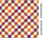 autumnal diagonal gingham...   Shutterstock .eps vector #1969564381