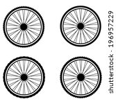 silhouette of a bicycle wheel | Shutterstock .eps vector #196957229