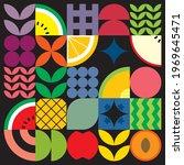 flat minimalist geometric fruit ...   Shutterstock .eps vector #1969645471
