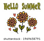 Cute Floral Greeting Card With...
