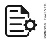 document with gear icon. vector ... | Shutterstock .eps vector #1969672441