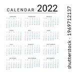 mockup simple calendar layout... | Shutterstock .eps vector #1969712137