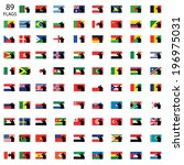 saluting world flag set | Shutterstock . vector #196975031