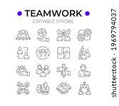 business partnership linear... | Shutterstock .eps vector #1969794037