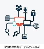 technology design over white... | Shutterstock .eps vector #196983269