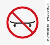 skateboard ban vector icon. no...   Shutterstock .eps vector #1969834534