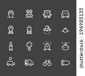vehicle element vector white... | Shutterstock .eps vector #196985135