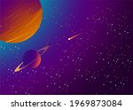 outer space galaxy illustration ... | Shutterstock .eps vector #1969873084