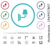 Wall Lamp Flat Color Icons In...