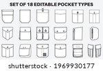 patch pocket flat sketch vector ... | Shutterstock .eps vector #1969930177