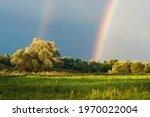 Double Rainbow After Summer Rain