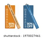90  off discount sticker. sale... | Shutterstock .eps vector #1970027461