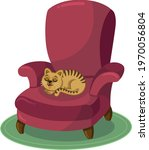Domestic Cat Is Resting On The...