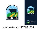 cattle farm logo template...   Shutterstock .eps vector #1970071354