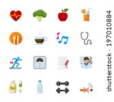 health and wellness icons  ... | Shutterstock .eps vector #197010884
