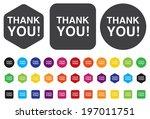 thank you button | Shutterstock .eps vector #197011751