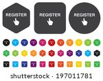 register button | Shutterstock .eps vector #197011781