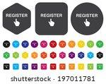 register button   Shutterstock .eps vector #197011781