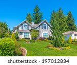big custom made luxury house...   Shutterstock . vector #197012834